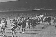Brass band playing before the All Ireland Senior Hurling Final, Cork v Kilkenny in Croke Park on the 3rd September 1972. Kilkenny 3-24, Cork 5-11.