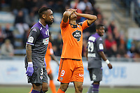 Deception Jordan AYEW - 18.04.2015 - Lorient / Toulouse - 33eme journee de Ligue 1<br />