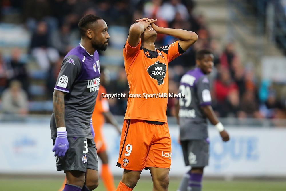 Deception Jordan AYEW - 18.04.2015 - Lorient / Toulouse - 33eme journee de Ligue 1<br />Photo : Vincent Michel / Icon Sport