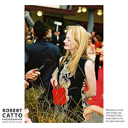 Miranda Otto at the Lord Of The Rings: Fellowship Of The Ring Premiere at the Embassy Theatre, Wellington, New Zealand.<br />