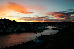 © Licensed to London News Pictures. <br /> 19/11/2016 <br /> Whitby, UK.  <br /> A cold Autumn sunrise over the North Yorkshire town of Whitby on the Northeast coast.  <br /> Photo credit: Ian Forsyth/LNP