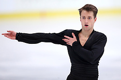 03.12.2015, Dom Sportova, Zagreb, CRO, ISU, Golden Spin of Zagreb, Kurzprogramm Herren, im Bild Alexander Bjelde, Germany // during the 48th Golden Spin of Zagreb 2015 Male Short Program of ISU at the Dom Sportova in Zagreb, Croatia on 2015/12/03. EXPA Pictures © 2015, PhotoCredit: EXPA/ Pixsell/ Igor Kralj<br /> <br /> *****ATTENTION - for AUT, SLO, SUI, SWE, ITA, FRA only*****