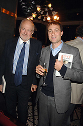 Left to right, CLAUS VON BULOW and BEN GOLDSMITH at a party to celebrate the publication of Table Talk by A  A Gill held at Luciano, 72-73 St.James's, London on 22nd October 2007.<br />