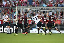05.08.2015, Allianz Arena, Muenchen, GER, AUDI CUP, AC Milan vs Tottenham Hotspur, im Bild Nacer Chadli (Tottenham Hotspur #22) mit dem Fuehrungs Tor zum 1:0 gegen Torwart Christian Abbiati (AC Mailand #32) // during the 2015 Audi Cup Match between AC Milan and Tottenham Hotspur at the Allianz Arena in Muenchen, Germany on 2015/08/05. EXPA Pictures © 2015, PhotoCredit: EXPA/ Eibner-Pressefoto/ Schüler<br /> <br /> *****ATTENTION - OUT of GER*****