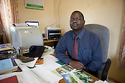 17 December 2010. Chibombo District, Zambia. Shadreck Mwale, Acting District Agricultural Coordinator (DACO)