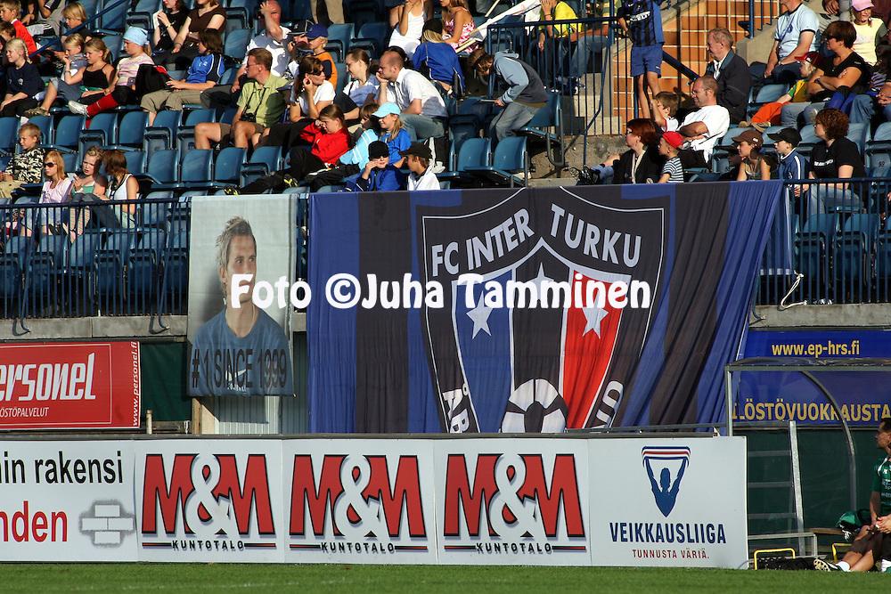 27.08.2006, Veritas Stadion, Turku, Finland..Veikkausliiga 2006 - Finnish League 2006.FC Inter Turku - FC KooTeePee.Inter-fanien lakanat.©Juha Tamminen.....ARK:k