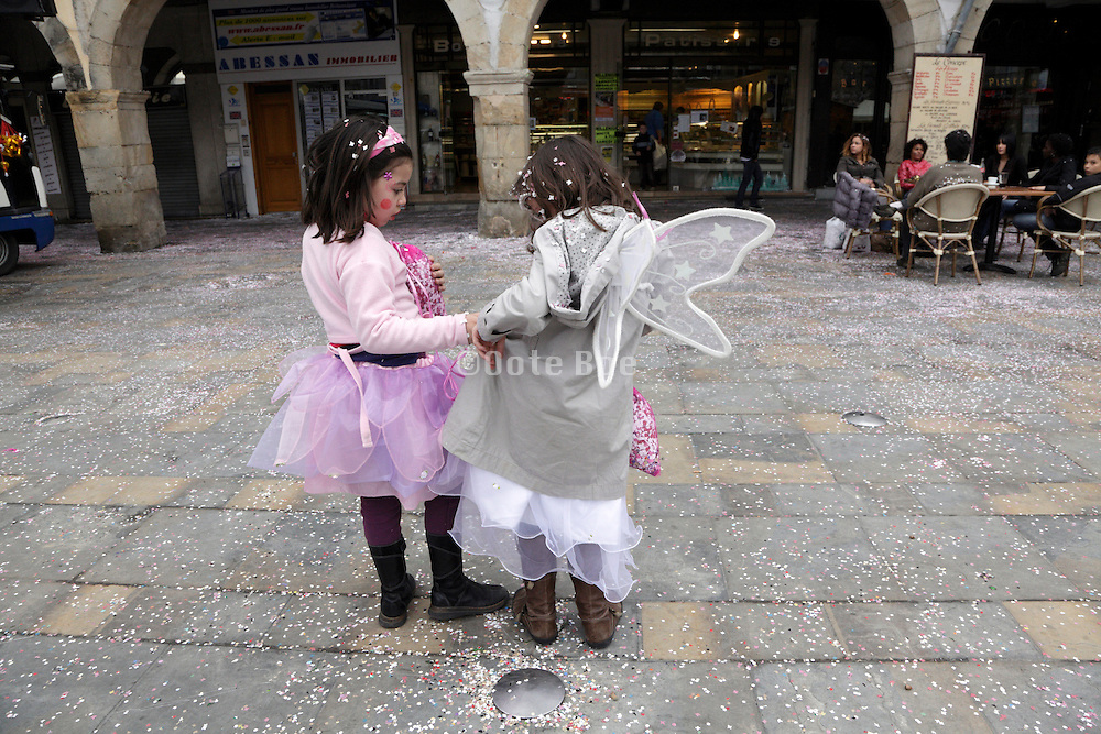 children dressed up during Carnaval France Limoux