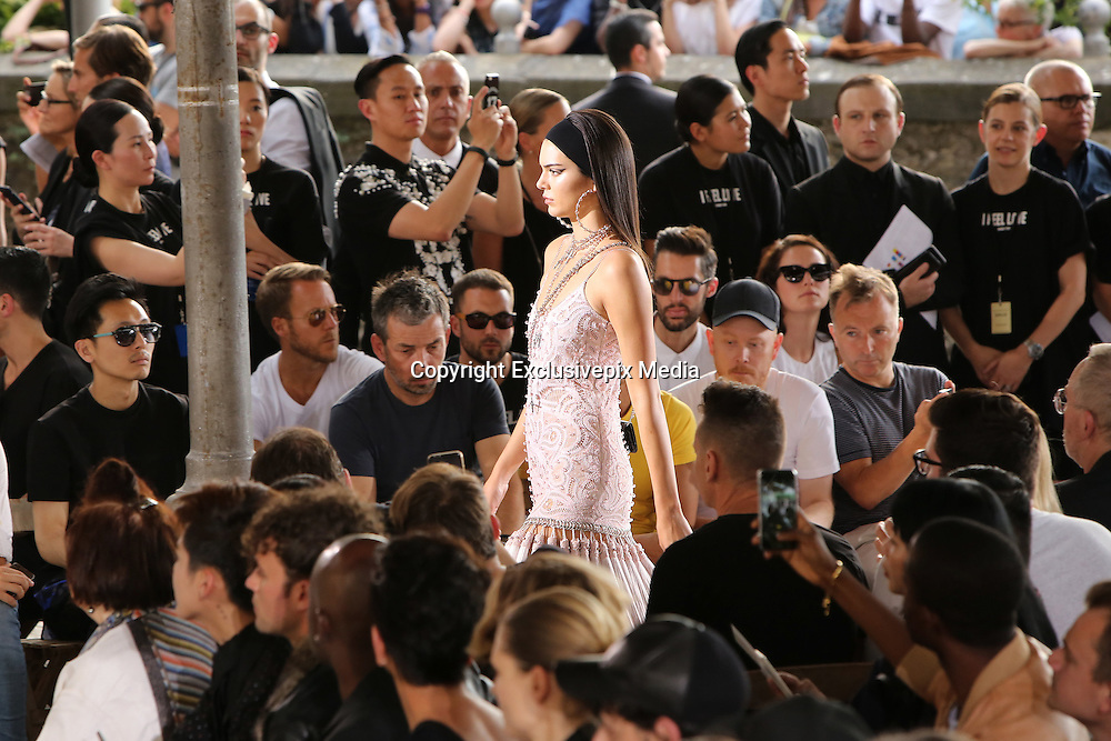 KENDALL JENNER - GIVENCHY MEN FASHION SHOW , SPRING - SUMMER 2016 .<br /> &copy;Exclusivepix Media