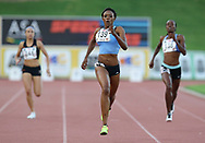 JOHANNESBURG, SOUTH AFRICA - MARCH 22: Christine Botlogetswe of Botswana in the women's 400m during the ASA Speed Series 4 at Germiston Stadium on March 22, 2017 in Johannesburg, South Africa. (Photo by Roger Sedres/ImageSA)