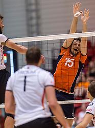 05-06-2016 NED: Nederland - Duitsland, Doetinchem<br /> Nederland speelt de laatste oefenwedstrijd ook in  Doetinchem en speelt gelijk 2-2 in een redelijk duel van beide kanten / Thomas Koelewijn #15