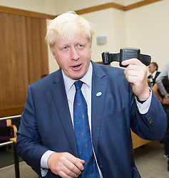 Image ©Licensed to i-Images Picture Agency. 31/07/2014. Croydon, United Kingdom. Mayor of London Boris Johnson launches UK's first compulsory sobriety 'tag' for drinkers for residents in Lambeth, Southwark, Croydon or Sutton. Croydon Magistrates' Court. Picture by Daniel Leal-Olivas / i-Images
