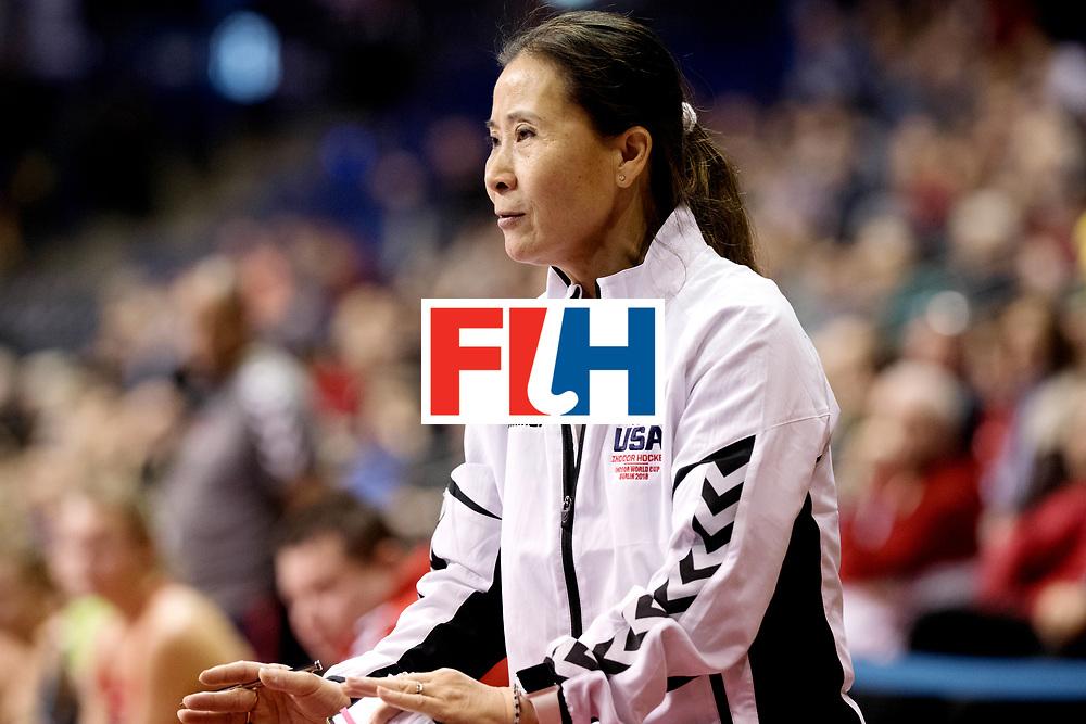 BERLIN - Indoor Hockey World Cup<br /> Women: Netherlands - United States<br /> foto: Yun Kentwell.<br /> WORLDSPORTPICS COPYRIGHT FRANK UIJLENBROEK