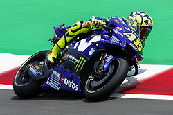 June 17, 2018 - Barcelona, Catalonia, Spain - The Italian rider, Valentino Rossi of Movistar Yamaha MotoGP, riding his Yamaha during the Catalunya Motorcycle Grand Prix at Circuit de Catalunya on June 17, 2018 in Barcelona, Spain. (Credit Image: © Joan Cros/NurPhoto via ZUMA Press)