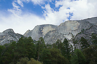 Looking up at Half Dome in Yosemite Valley Yosemite National Park California USA.