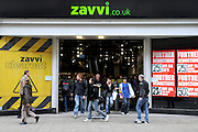 'Zavvi' on London's Oxford Street is one the stores still trading despite the company being in recievership