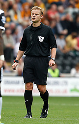 Referee Mike Jones  - Photo mandatory by-line: Matt Bunn/JMP - Tel: Mobile: 07966 386802 24/08/2013 - SPORT - FOOTBALL - KC Stadium - Hull -  Hull City V Norwich City - Barclays Premier League
