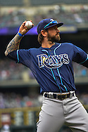 Ryan Roberts warms up before a game between the Tampa Bay Rays and the Colorado Rockies.