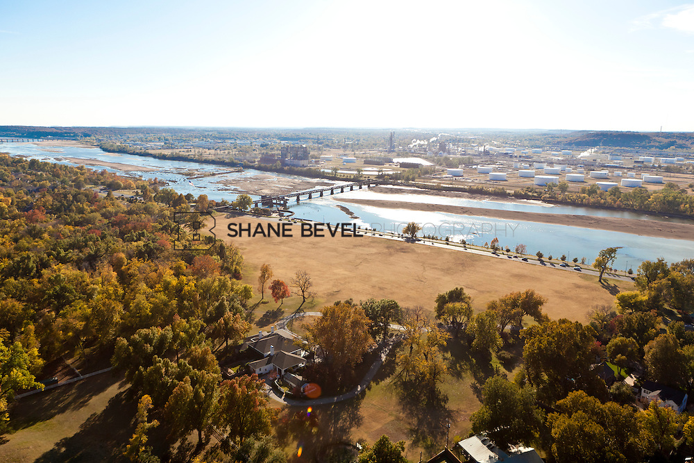 11/4/11 4:12:39 PM -- Riverside aerials..Photo by Shane Bevel.Aerial images of Tulsa's Riverparks and views of downtown Tulsa as well as the riverside area.