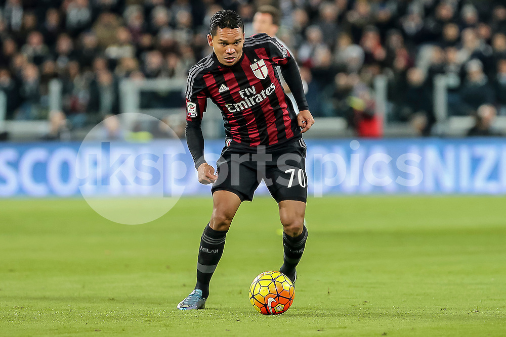 Carlos Bacca of AC Milan during the Serie A TIM match between Juventus and AC Milan at the Juventus Stadium, Turin, Italy on 21 November 2015. Photo by sync studio.