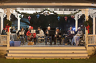 Pine Bush, New York - The Pine Bush Community Band plays music in the Gazebo during the Community Country Christmas presented by the Pine Bush Chamber of Commerce on Dec. 1, 2012.