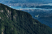 View of Vancouver from the Coast Mountains