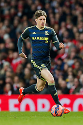 Adam Reach of Middlesbrough in action - Photo mandatory by-line: Rogan Thomson/JMP - 07966 386802 - 15/02/2015 - SPORT - FOOTBALL - London, England - Emirates Stadium - Arsenal v Middlesbrough - FA Cup Fifth Round Proper.