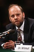 Ian Wilmut, of Scotland's Roslin Institute testifies in Congress March 12, 1997 on human cloning.
