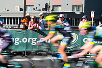 A Peloton blur in the Women's race of the Peoples Choice Classic criterium at the start of the Tour Down Under, Australia on the 14 of January 2018 ( Credit Image: © Gary Francis / ZUMA WIRE SERVICE )