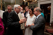 ALEXANDER CHANCELLOR; IAN HISLOP, David Campbell and Knopf host the 20th Anniversary of the revival of Everyman's Library. Spencer House. St. James's Place. London. 7 July 2011. <br /> <br />  , -DO NOT ARCHIVE-© Copyright Photograph by Dafydd Jones. 248 Clapham Rd. London SW9 0PZ. Tel 0207 820 0771. www.dafjones.com.