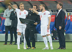 October 11, 2018 - Chorzow, Poland - Kamil Grosicki (POL), Jakub Blaszczykowski (POL) during the UEFA Nations league match between Poland v Portugal at the Slaski Stadium on October 11, 2018 in Chorzow  (Credit Image: © Foto Olimpik/NurPhoto via ZUMA Press)