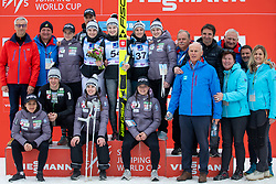 KRIZNAR Nika (SLO) and slovenian team celebrate after FIS Ski Jumping World Cup Ladies Ljubno 2020, on February 23th, 2020 in Ljubno ob Savinji, Ljubno ob Savinji, Slovenia. Photo by Matic Ritonja / Sportida