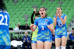 Mojca Bozic of Slovenia celebrates during volleyball match between Slovenia and Slovakia in CEV European League Women on June 22, 2016 in Stozice, Ljubljana, Slovenia. Photo by Morgan Kristan / Sportida