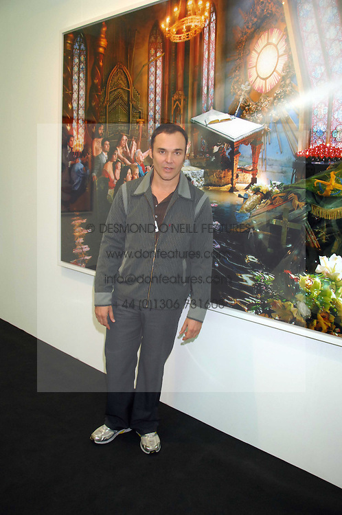 Photographer DAVID LACHAPELLE at the opening of Frieze Art Fair 2007 held in regent's Park, London on 10th October 2007.<br />