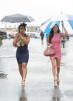 01/08/2014 Rain at the Friday evening at the Galway Races Summer Festival <br />  .Photo:Andrew Downes