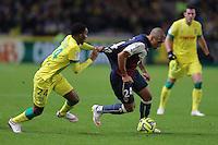 Wahbi KHAZRI / Chaker ALHADHUR  - 13.12.2014 - Nantes / Bordeaux - 18eme journee de Ligue1<br />Photo : Vincent Michel / Icon Sport