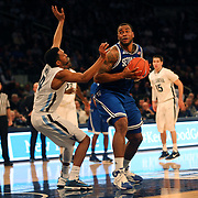 Eugene Teague, Seton Hall, prepares to shoot during the Villanova Wildcats Vs Seton Hall Pirates basketball game during the Big East Conference Tournament at Madison Square Garden, New York, USA. 12th March 2014. Photo Tim Clayton