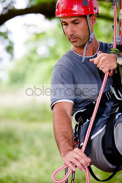 Close up of a climber