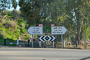 Route 90 near the Sea of Galilee, Israel.