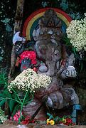 Sri Lanka..Ganesh shrine in the hill country at Agrapatana.
