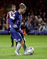 Peterborough United's Grant McCann scores a penalty - Photo mandatory by-line: Joe Dent/JMP - Tel: Mobile: 07966 386802 08/10/2013 - SPORT - FOOTBALL - London Road Stadium - Peterborough - Peterborough United V Brentford - Johnstone's Paint Trophy