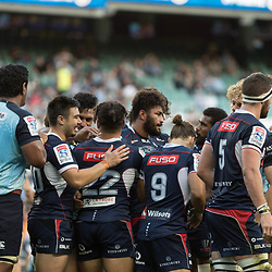 Amanaki Mafi of the Melbourne Rebels scores a try during the super rugby match between Waratahs and the Rebels Allianz Stadium 21 May 2017(Photo by Mario Facchini -Steve Haag Sports)