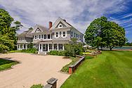 Georgian-style 1900s residence on Mecox Bay. Designed originally by architect, W.E. Brady, Cobb Rd, Water Mill, NY