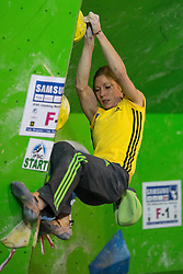 Mina Markovic of Slovenia during Final IFSC World Cup Bouldering Competition in sport climbing Log Dragomer 2013, on May 12, 2013 in Sportni Park, Log pri Brezovici, Slovenia. (Photo By Matic Klansek Velej/ Sportida.com)