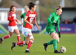 Rosella Ayane of Bristol City applies pressure on Hannah Short of Yeovil Town Ladies- Mandatory by-line: Nizaam Jones/JMP - 27/01/2019 - FOOTBALL - Stoke Gifford Stadium - Bristol, England - Bristol City Women v Yeovil Town Ladies- FA Women's Super League 1