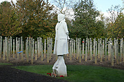 The Shot At Dawn Memorial at the National Memorial Arboretum, Croxall Road, Alrewas, Burton-On-Trent,  Staffordshire, on 29 October 2018. Picture by Mick Haynes.