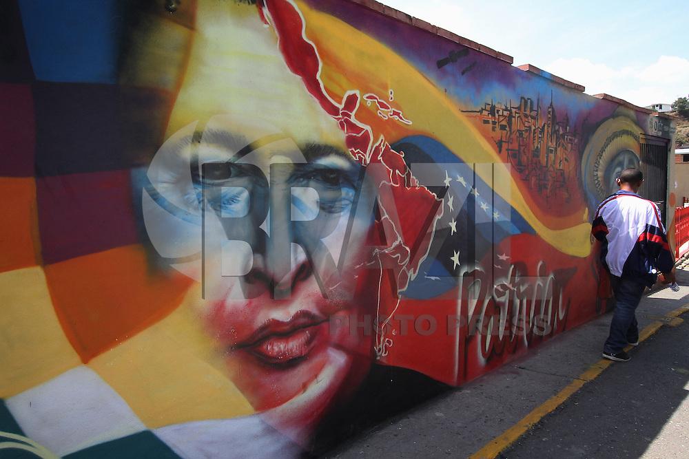 CARACAS, VENEZUELA, 09 ABRIL 2013 -Quartel da Montanha, em Caracas, Venezuela. O Quartel abriga o túmulo de Hugo Chavez e tornou-se também um memorial presidente morto em 5 de março de 2013 aberto ao público. 09.04.2013. FOTO: AMANDA PEROBELLI / BRAZIL PHOTO PRESS.