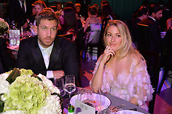 CALVIN HARRIS and ELLIE GOULDING at the GQ Men of The Year Awards 2016 in association with Hugo Boss held at Tate Modern, London on 6th September 2016.