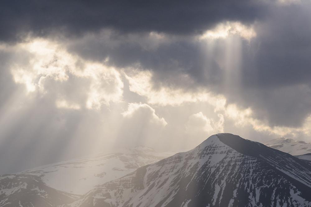Storm clouds near Borgarnes, Iceland