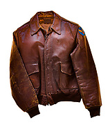 "This is a type A2 flight jacket that was worn by members of the 390th bombardment group. This jacket does not have a squadron patch or name plate on the front to identify who the jacket belonged to, or which squadron they were attached to. On the back of the jacket the name ""Hell Cats"" is painted in yellow."