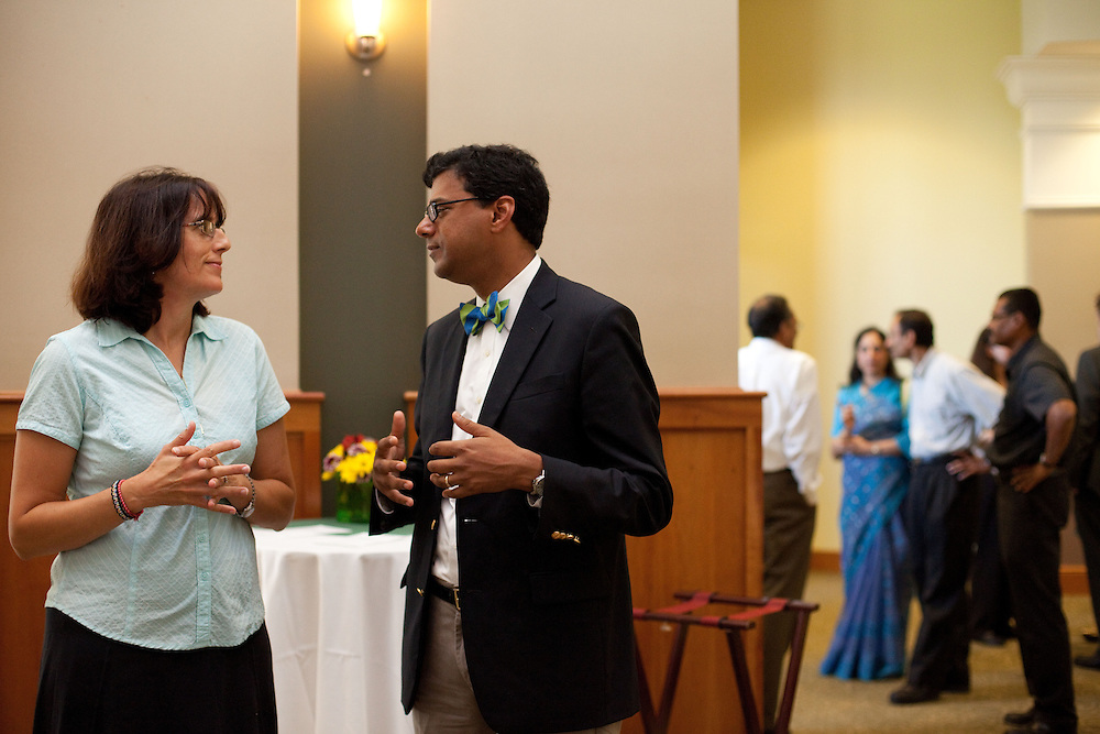 A reception was hosted at Walter Hall Rotunda in Athens, Ohio on Saturday, August 31, 2013 for the Gawande family, who has donated money to create a position for endowed professor Brian Collins, in Classics & World Religions Department. Photo by Chris Franz